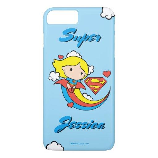 Chibi Supergirl Flying Rainbow iPhone 8 Plus/7 Plus Case