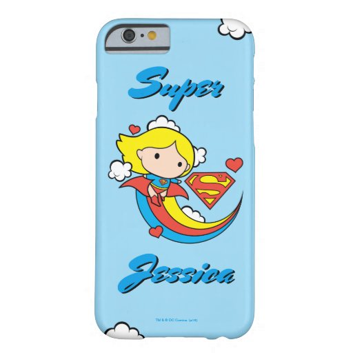 Chibi Supergirl Flying Rainbow Barely There iPhone 6 Case