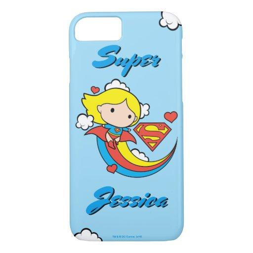 Chibi Supergirl Flying Rainbow iPhone 8/7 Case