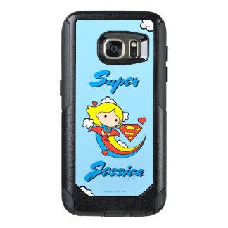 Chibi Supergirl Flying Rainbow OtterBox Samsung Galaxy S7 Case