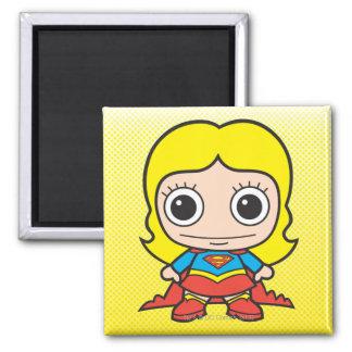 Chibi Supergirl Imán Cuadrado
