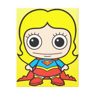 Chibi Supergirl Lienzo Envuelto Para Galerias