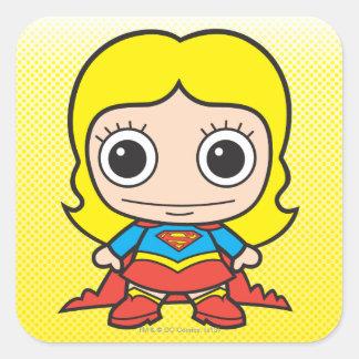 Chibi Supergirl Pegatina Cuadrada
