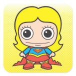 Chibi Supergirl Square Sticker