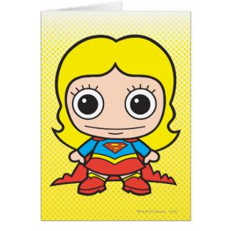 Chibi Supergirl Tarjeta De Felicitación