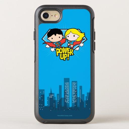 Chibi Superman & Chibi Supergirl Power Up! OtterBox Symmetry iPhone SE/8/7 Case