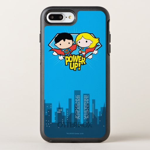 Chibi Superman & Chibi Supergirl Power Up! OtterBox Symmetry iPhone 8 Plus/7 Plus Case