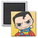 Chibi Superman Flying 2 Inch Square Magnet