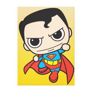 Chibi Superman Flying Canvas Prints