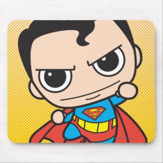 Chibi Superman Flying Mouse Pad