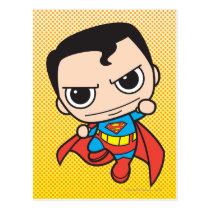 justice leauge, super hero, batman, robin, superman, cyborg, joker, chibi, japanese, toy, dc comics, comic book, Postcard with custom graphic design
