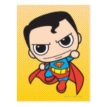 Chibi Superman Flying Postcard