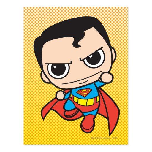 Chibi Superman Flying Post Card