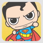 Chibi Superman Flying Square Sticker