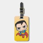 Chibi Superman Flying Travel Bag Tags