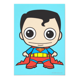Chibi Superman 5x7 Paper Invitation Card