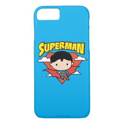 Chibi Superman Polka Dot Shield and Name iPhone 8/7 Case
