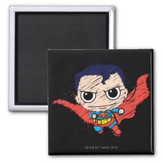 Chibi Superman Sketch 2 Inch Square Magnet