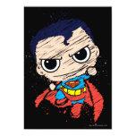 Chibi Superman Sketch - Flying 5x7 Paper Invitation Card