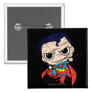 Chibi Superman Sketch - Flying Pin