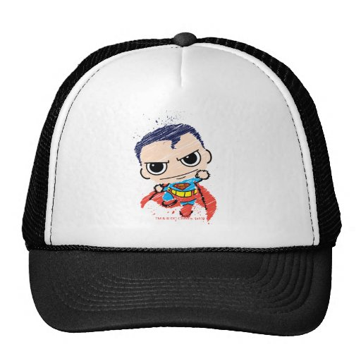 Chibi Superman Sketch - Flying Mesh Hat