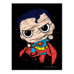 Chibi Superman Sketch - Flying Postcard