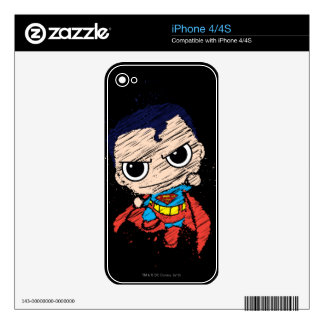 Chibi Superman Sketch - Flying Decals For iPhone 4