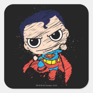 Chibi Superman Sketch - Flying Square Sticker