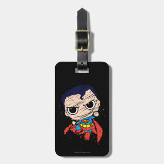 Chibi Superman Sketch - Flying Tags For Bags