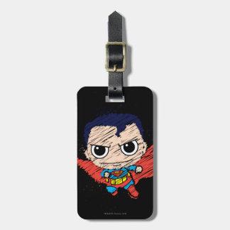 Chibi Superman Sketch Bag Tags