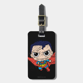 Chibi Superman Sketch Luggage Tags