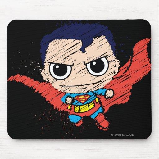 Chibi Superman Sketch Mousepads