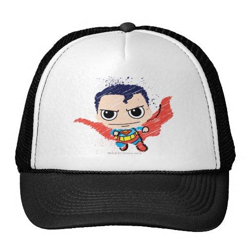 Chibi Superman Sketch Trucker Hat