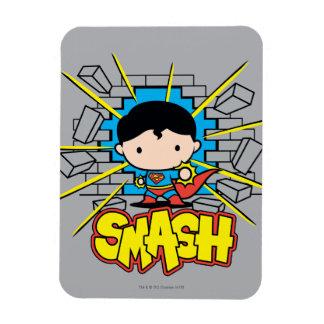 Chibi Superman Smashing Through Brick Wall Magnet