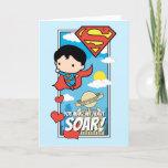 Chibi Superman - You Make My Heart Soar Valentine Holiday Card