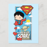 Chibi Superman - You Make My Heart Soar Valentine Holiday Postcard