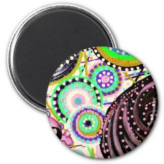 chibi tête de mort 2 inch round magnet
