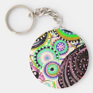 chibi tête de mort basic round button keychain