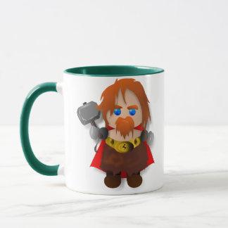 Chibi Thor with Hammer Mug