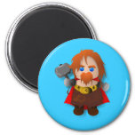 Chibi Thor with Hammer Refrigerator Magnet