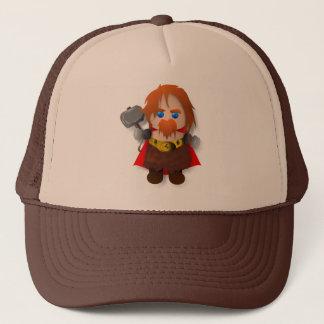 Chibi Thor with Hammer Trucker Hat