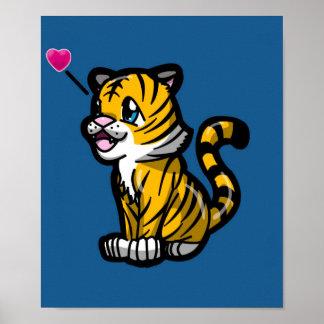 Chibi Tiger Poster