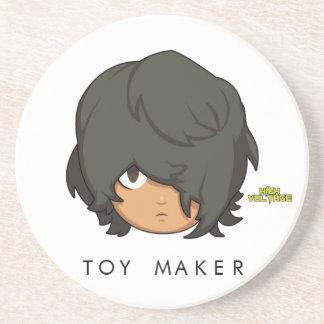 Chibi Toy Maker Sandstone Coaster