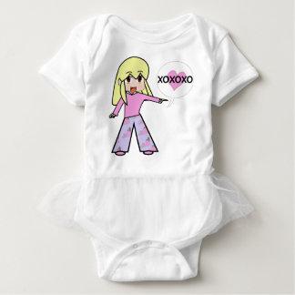 Chibi Valentine Baby Bodysuit