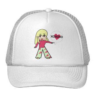Chibi Valentine Hearts Trucker Hat