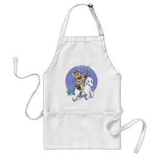 chibi valkyrie distressed adult apron