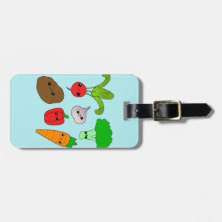 Chibi Vegetables Tag For Bags