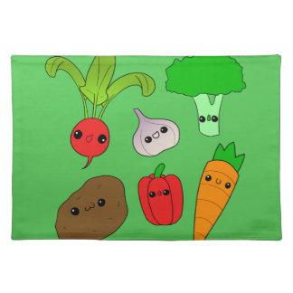 Chibi Vegetables Placemat