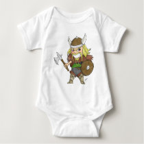 Chibi Viking (Distressed) Baby Bodysuit