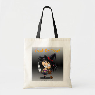 Chibi witch Mary Trick or Treat Tote Bag